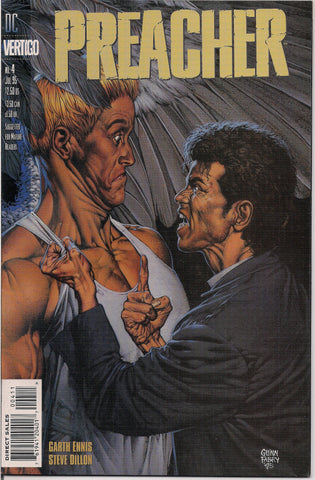 PREACHER #4, Garth Ennis,Steve Dillon,Jesse Custer,The Saint of Killers,Cassidy,Tulip,DC Comics Vertigo Press