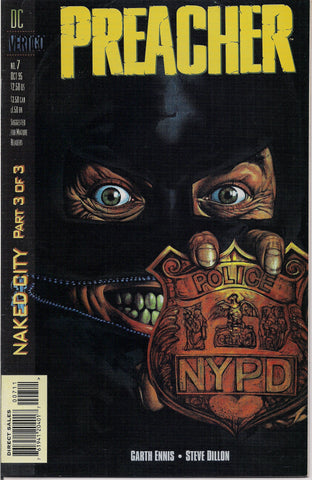 PREACHER #7, Garth Ennis,Steve Dillon,Jesse Custer,The Saint of Killers,Cassidy,Tulip,DC Comics Vertigo Press