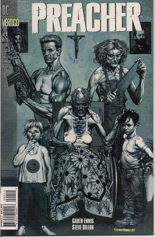 PREACHER #9, Garth Ennis,Steve Dillon,Jesse Custer,The Saint of Killers,Cassidy,Tulip,DC Comics Vertigo Press