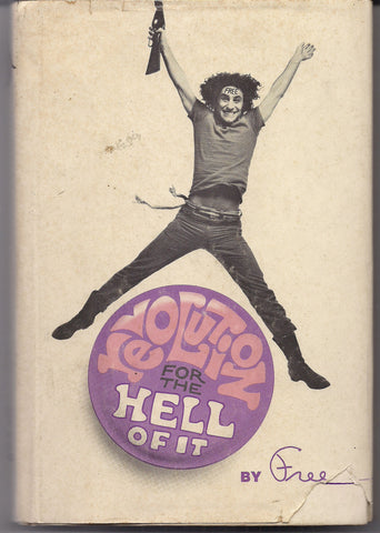 REVOLUTION for the Hell of It, by FREE, 1st EDITION, Abbie Hoffman,1968,Yippie, Chicago Seven 7,Conspiracy Trial, Protest,Radical Politics,