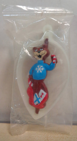 Super Sugar Crisp, SUGAR BEAR, Cereal Premium, Vintage 1995  Plastic Spinner Christmas Holiday Ornament, Sealed in Original Bag
