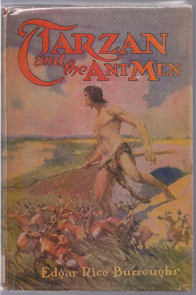 TARZAN and the ANT MEN,Edgar Rice Burroughs,1946 Madison Square Edition with Dust Jacket,Lord King of the Jungle