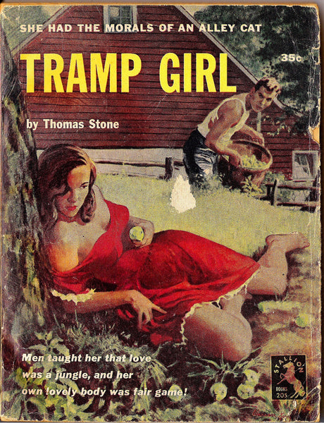 TRAMP GIRL, 1952,Thomas Stone,Florence Stonebraker,Stallion Books,Designs Publishing,Intimate Novel #27,Sleazy Exploitation,teenage angst