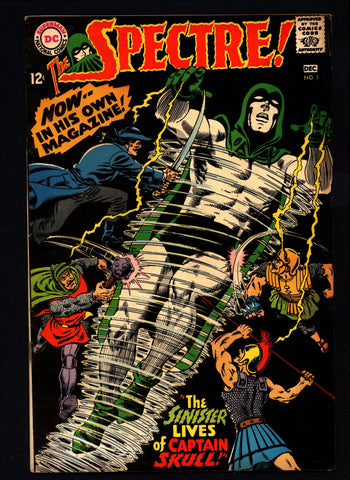 The SPECTRE #1,The Ghostly Guardian,DC Comics,Gardner Fox,Murphy Anderson,Supernatural,Occult,Mystic,Silver Age version of Golden Age Hero