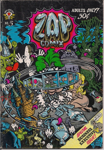 ZAP Comix #5 1st Robert CRUMB,(C) Moscoso,Robt Williams,Gilbert Shelton, Freak Bros,Wonder Warthog, Apex Novelty ADULT Dope Drugs Sex Psychedelic Underground