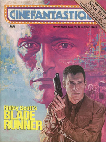 Philip K Dick, BLADE RUNNER, Cinefantastique, Scarce, Harrison Ford,Ridley Scott, Syd Mead, V12 #5/6,Frederick S. Clarke