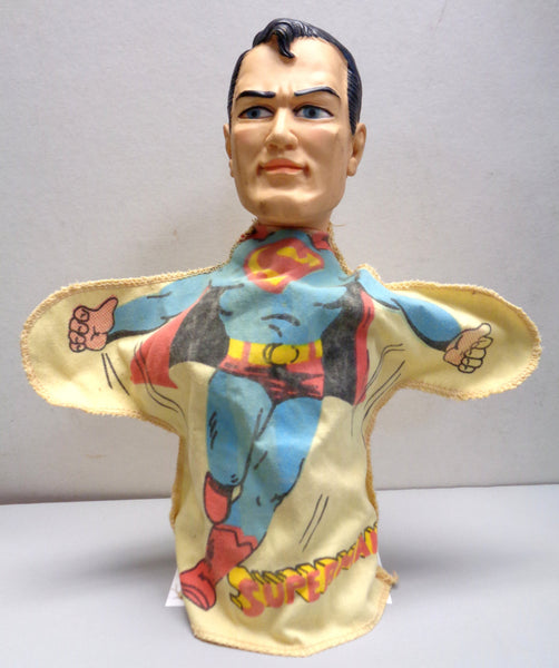 DC Comics SUPERMAN, 1965,Ideal Toy Corp,Toy,Hand Puppet,SM-P-H13,Doll,figure, Jerry Siegel,Joe Shuster,National Periodical Publications