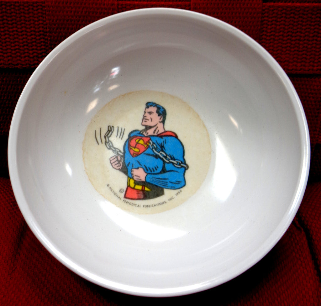 DC Comics SUPERMAN 1966Melmac DinnerwareKelloggs Cereal Bowl Siegel u0026 Shuster & DC Comics SUPERMAN 1966Melmac DinnerwareKelloggs Cereal Bowl ...