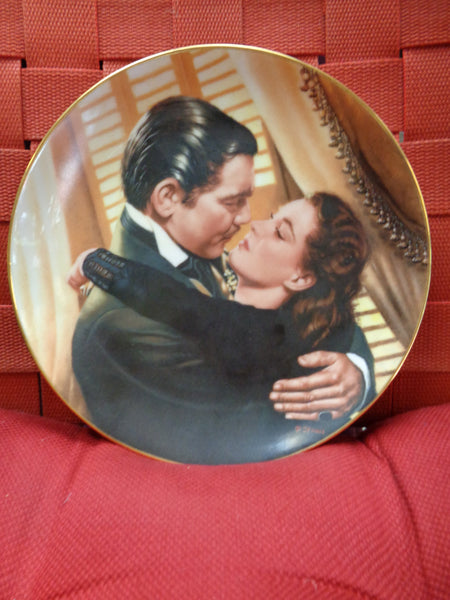 Gone With the Wind, CLARK GABLE, Marry Me Scarlett, 1991,Ceramic,Limited Edition Collectors Plate,W S George Fine China,Metro Goldwyn Mayer
