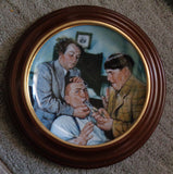 THREE STOOGES, Yanks for the Memories, Curly, Moe Howard, Larry Fine, Franklin Mint, Collectors Plate LD 1860