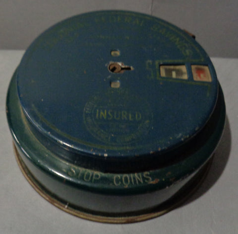 ADD O BANK, 1942, Colonial Federal Savings and Loan Association,Staten Island,NY, Vintage Coin Metal Bank