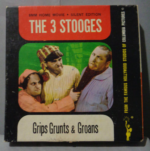 "THREE STOOGES, Dizzy Doctors, Curly, Moe Howard, Larry Fine, 8mm, Black & White, 5"" Reel,Silent, Castle Film"