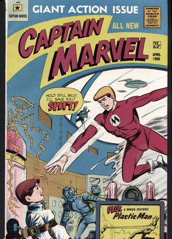 RARE CAPTAIN MARVEL #1, Giant Action Issue 1966, Roger Elwood, Leon Francho, Myron Fass, M. F. Enterprises