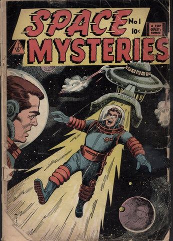 SPACE MYSTERIES #1, 1958, Journey into Unknown Worlds, Marvel Atlas Comics, Russ Heath, I.W. Publications, Super Comics, A Top Quality Comic