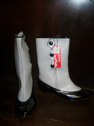 Rare NBC-TV HULLABALOO Go Go Boots Mod 2 two tone with original tag and box British Invasion rock n roll collectible