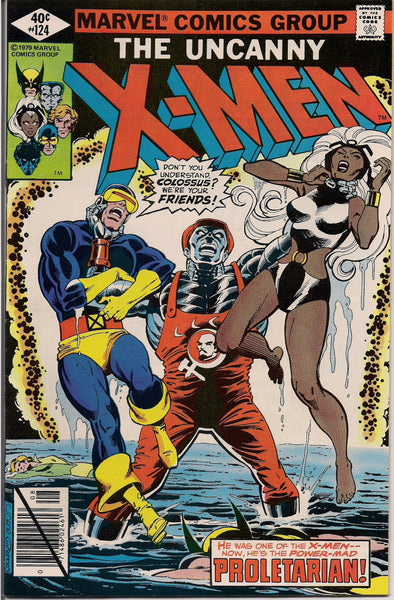 MARVEL Mutants Uncanny XMEN #124  Bronze Age Comics 1979  Chris Claremont John Byrne Fn created by Jack King Kirby & Stan Lee