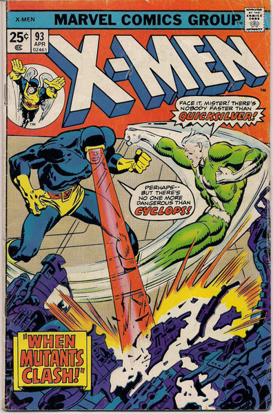 MARVEL XMEN #93 LAST Reprint Issue Mutant Comics created by Jack King Kirby & Stan Lee 1975 Bronze Age