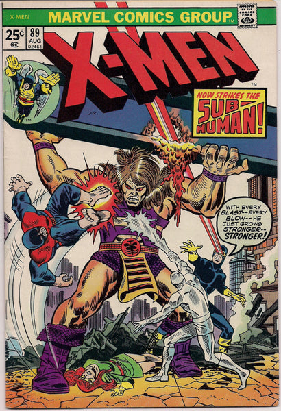 "MARVEL XMEN #89 Mutant Comics created by Jack King Kirby & Stan Lee 1974 Bronze Age ""Reprint Issues"""