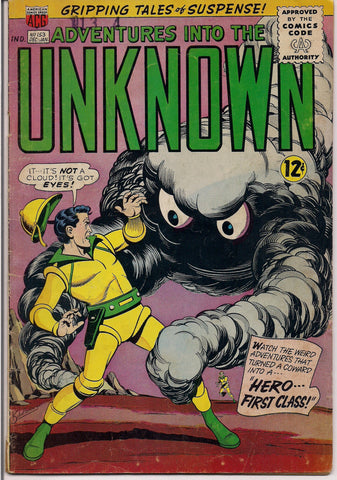 American Comics Group A C G Adventures into the UNKNOWN #153 1964  Pete Costanza art