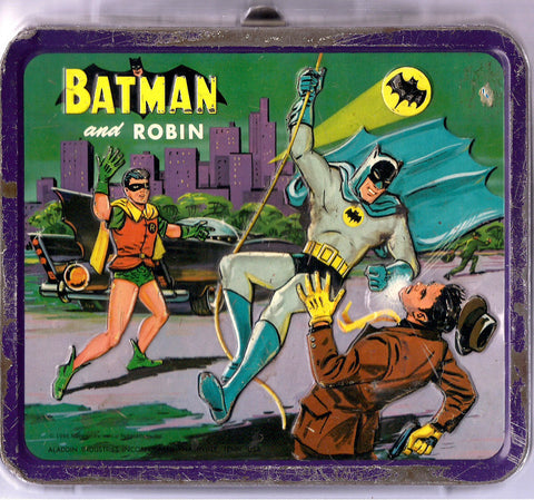 BATMANIA BATMAN & Robin 3D 1966 Aladdin Metal Lunchbox  DC Comics N.P.P. National Periodicals Publications