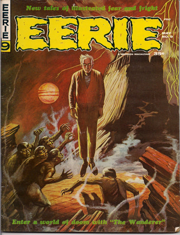 EERIE # 9 1966 Horror Comic Magazine Warren Pub issue Neal Adams Steve Ditko Roy G. Krenkel Ambrose Bierce Gene Colan