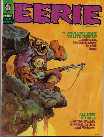 EERIE # 26 1969 Horror Comic Magazine Warren Pub Basil Gogos Vaughn Bode Jack Sparling Tom Sutton Ernie Colon