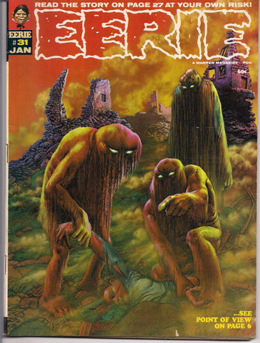 EERIE # 31 1971 Horror Comic Magazine Warren Pub Richard Corben Billy Graham Nicola Cuti Bill DuBay Tom Sutton
