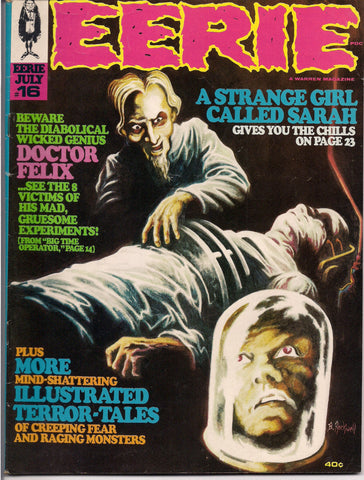 EERIE # 16 1968 Horror Comic Magazine Warren Pub Bram Stoker Dracula Alex Toth Johnny Craig Richard Corben