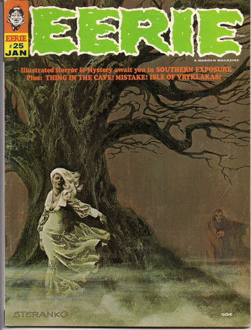 EERIE # 25 1969 Horror Comic Magazine Warren Pub Vampire Jim Steranko Larry Ivie Gene Colan Mike Royer