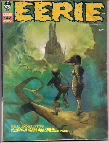 EERIE # 27 1969 Horror Comic Magazine Warren Pub Vaughn Bode  Jeff Jones Ken Barr Jack Sparling Ernie Colon