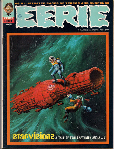 EERIE # 33 1971 Horror Comic Magazine Warren Pub Larry Todd Richard Corben Ernie Colon Marv Wolfman Ken Barr