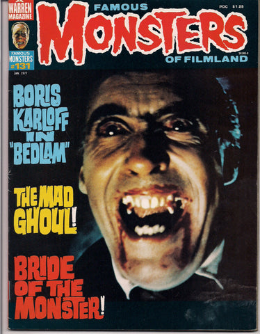 FAMOUS MONSTERS 131 Uncommon Boris Karloff Bela Lugosi Ed Wood Creature from the Black Lagoon