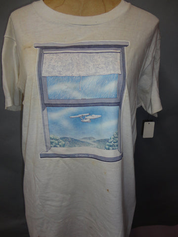 STAR TREK 1975 ROACH Studio Vintage Fruit of the Loom T Shirt with Original Transfer