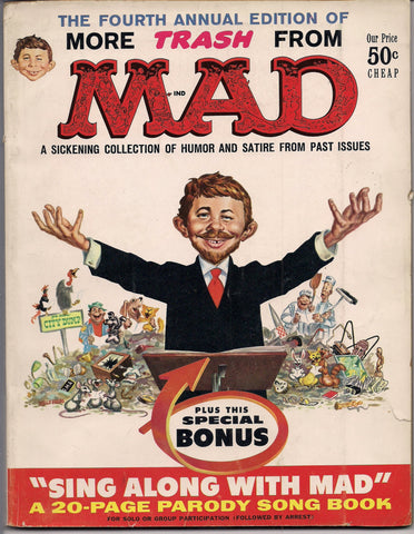 More TRASH from MAD MAGAZINE #4 1960 What Me Worry? Alfred E Neuman Bill Elder Wally Wood Kelly Freas Don Martin Jack Davis Mort Drucker