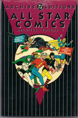 ALL STAR DC Comics Archive Editions #1 1st Printing in original Shrinkwrap Reprinting # 3-6 1940s Flash Hawkman Green Lantern Golden Age