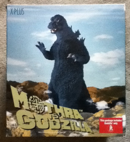 GODZILLA vs Mothra Japanese KAIJU Giant Monster Polyester Resin Figure X-Plus U S A Toho Studios