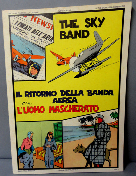 Lee Falk The PHANTOM The SKY BAND large size B & W 1941-42 strips in English Il Ritorno della Banda Aerea con L'Uomo Mascherato Italian Pub