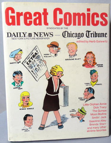 GREAT COMICS Daily News Chicago Tribune, Smilin' Jack, Terry & Pirates, Brenda Starr, Little Orphan Annie, Gasoline Alley, Moon Mullins