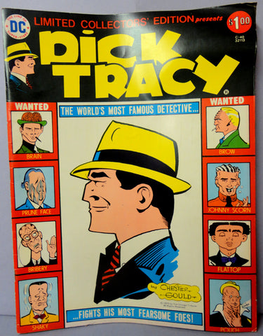 'DICK TRACY' Chester Gould Flattop DC Comics Limited Collectors Edition C-40 Golden Age Black Market Crime Newspaper Comic Strips Reprint