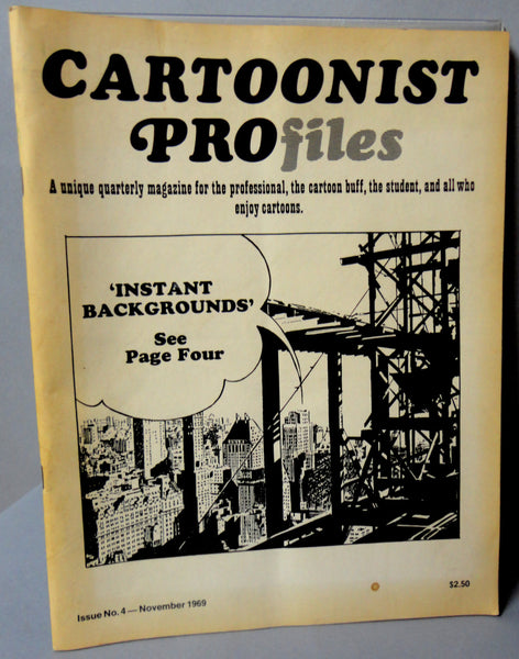 CARTOONIST PROFILES Magazine Fanzine #4 1969 Ronald Searle Jack Davis Stan Lee Stan Drake Allan Jaffee Mort Walker Bud Fisher Scrapbook