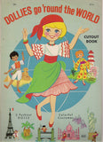 DOLLIES go 'round the World PROGRESSIVE Out Push Out Cut Out Paper Doll Book Fine Intact not cut