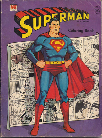 DC Comics SUPERMAN Coloring Book 1966 Whitman NPP National Periodical Publications