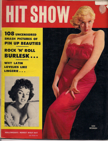 HIT SHOW #1 1957 Strippers & BURLESQUE Pin Up Magazine Dixie Evans Sharon Knight Corinne Calvet Paris Crazy Horse Saloon