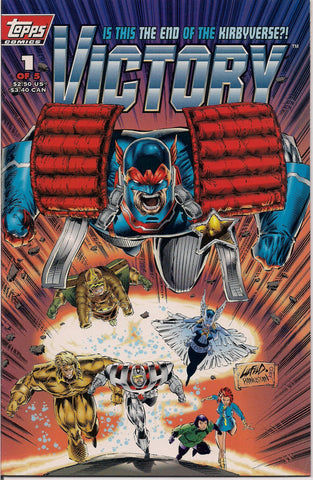 VICTORY #1 Topps Comics Kurt Busiek Keith Giffen Based on Characters created by JACK KIRBY Captain Victory Ninth Men Silver Star