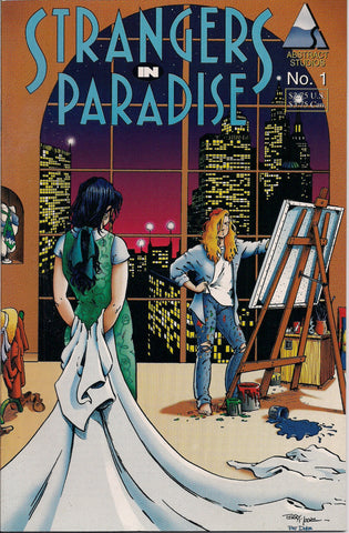 STRANGERS In PARADISE #1 Terry Moore Abstract Studio Volume 2 Second Series 1994