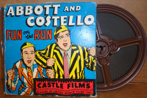"ABBOTT and COSTELLO in ""Fun on the Run"" 8mm Complete Edition Film Movie Castle Films #811"
