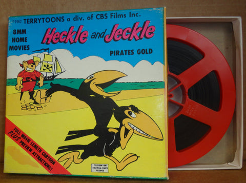 "HECKLE and JECKLE in ""Pirates Gold"" Terrytoons CARTOON 8mm Complete Edition Film Movie Castle Films #201"