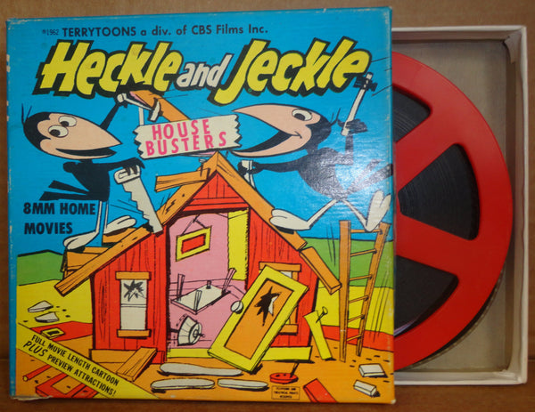 "HECKLE and JECKLE in ""House Busters"" Terrytoons CARTOON 8mm Complete Edition Film Movie Castle Films #216"