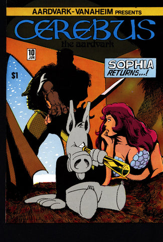 CEREBUS the Aardvark #10 DAVE SIM Aardvark-Vanaheim Fan Favorite Cult Self Published Alternative Conan the Barbarian Parody Comic Book