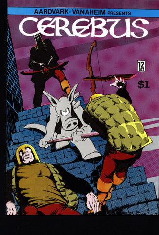 CEREBUS the Aardvark #12 DAVE SIM Aardvark-Vanaheim Fan Favorite Cult Self Published Alternative Conan the Barbarian Parody Comic Book
